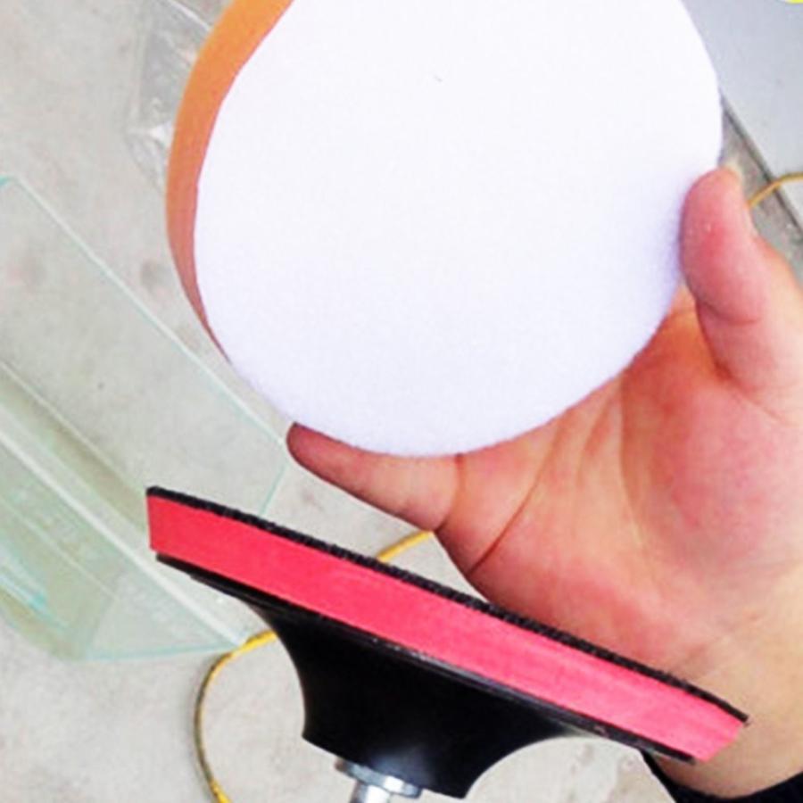 洗車 ポリッシャー 用 スポンジ バフ コンパウンド 研磨 ワックスがけ 125mm (10個)|avekt|03