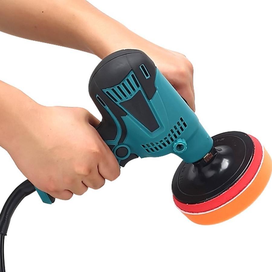 洗車 ポリッシャー 用 スポンジ バフ コンパウンド 研磨 ワックスがけ 125mm (10個)|avekt|04