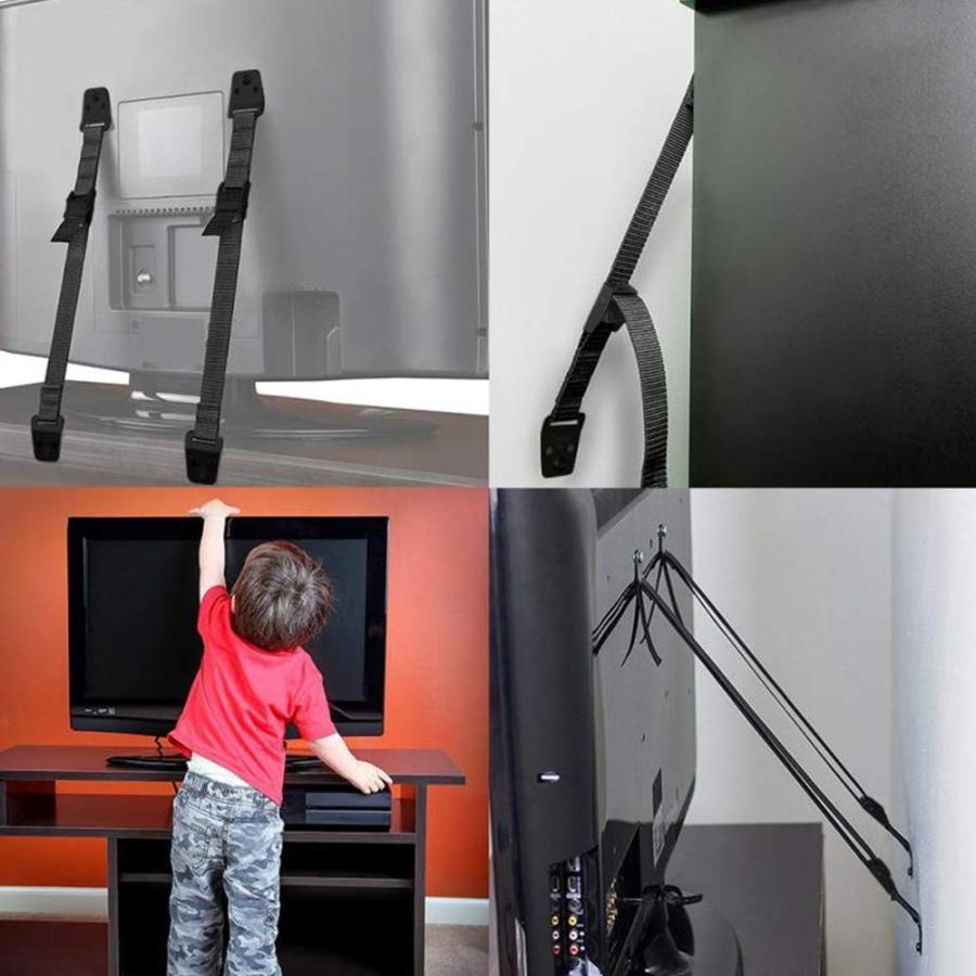 耐震ベルト テレビ 転倒防止 ビス止めタイプ 家具固定 調節可能 (2本セット)|avekt|02