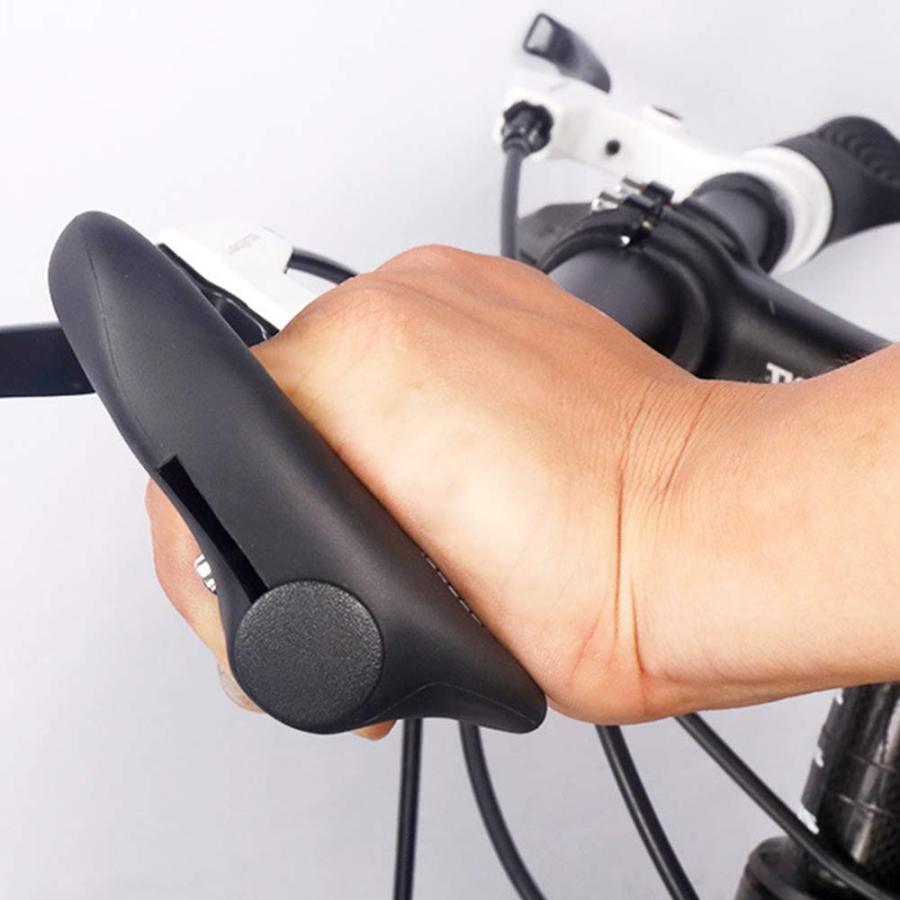自転車 ハンドルグリップ 滑りにくい ソフトラバー 牛角 マウンテンバイク 汎用|avekt|04