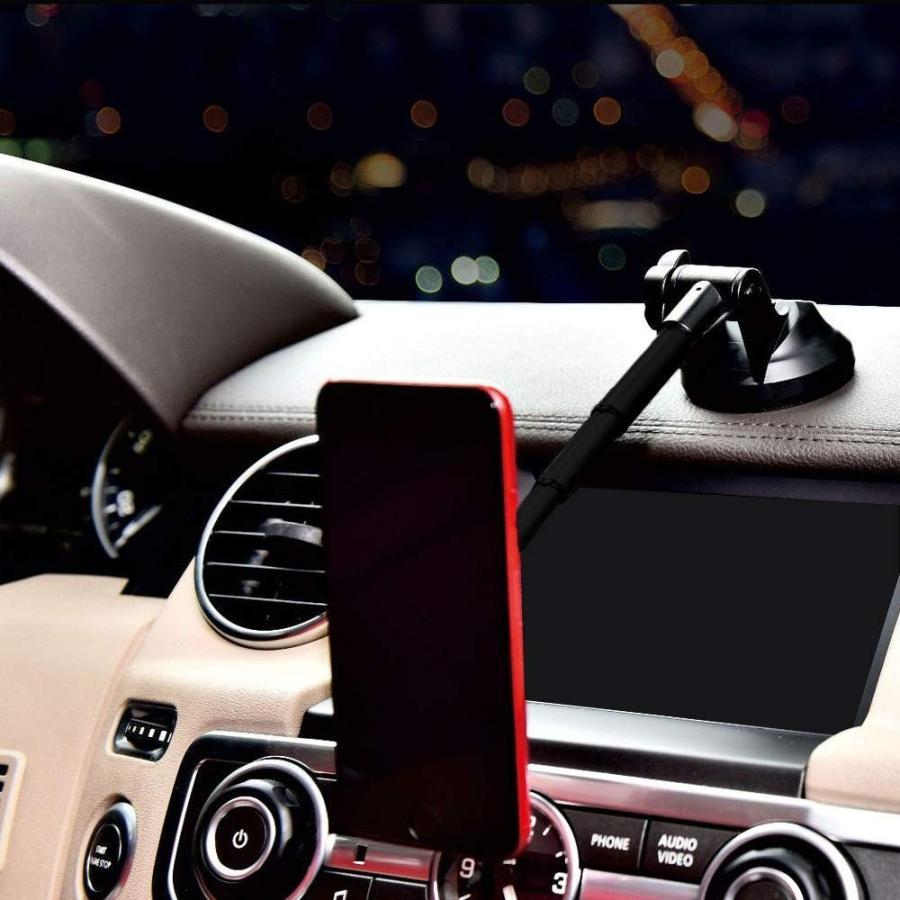 マグネット式 車載スマホホルダー 粘着ゲル吸盤で設置 伸縮アーム&角度調節可能 avekt 05