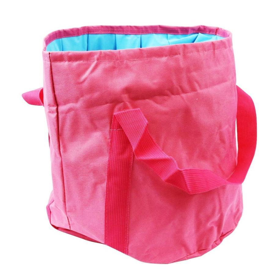 折り畳みバケツ 大容量25L 収納袋つき アウトドア 洗車 災害対策|avekt