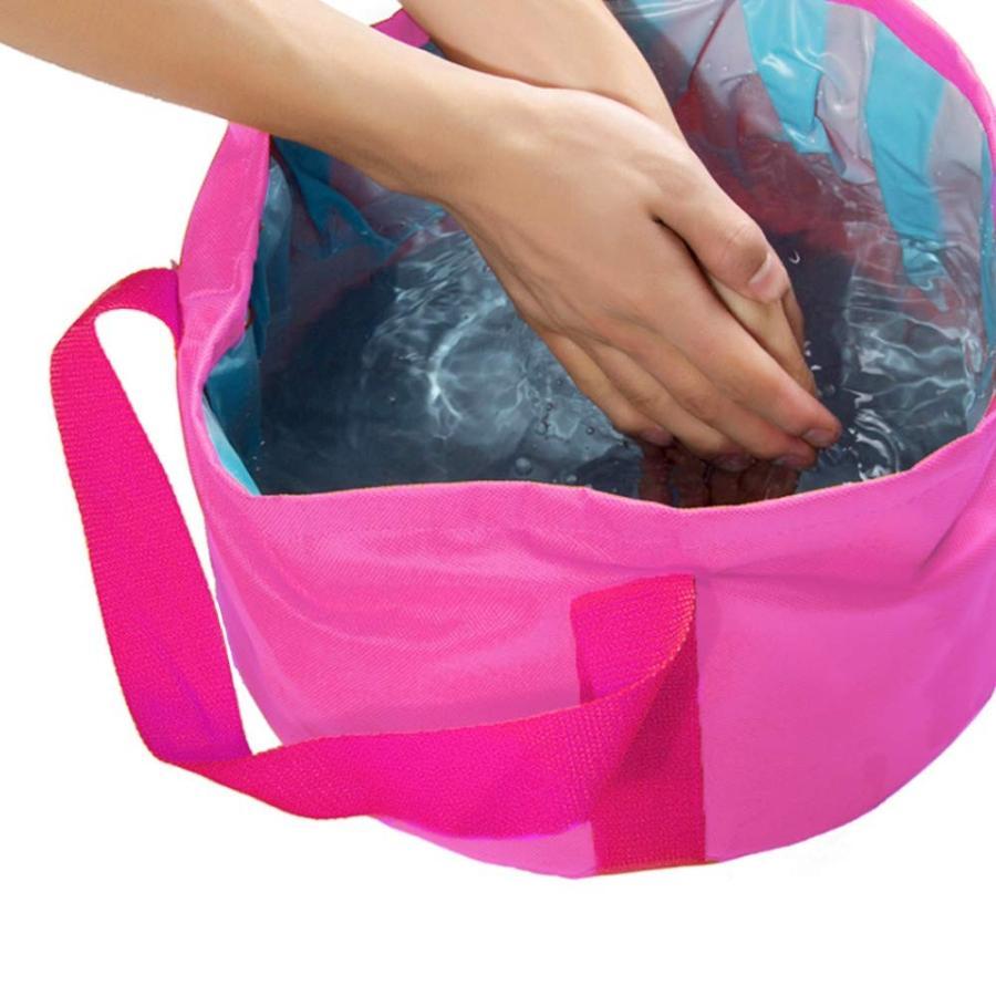 折り畳みバケツ 大容量25L 収納袋つき アウトドア 洗車 災害対策|avekt|04