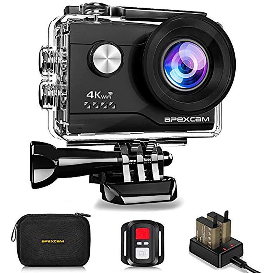 引出物 送料無料 ランキングTOP5 アクションカメラ 4K高画質 2000万画素 SONYセンサー WiFi搭載 防水バッグ付き 40M防水 1050mAhバッテリー リモコン AKM-190