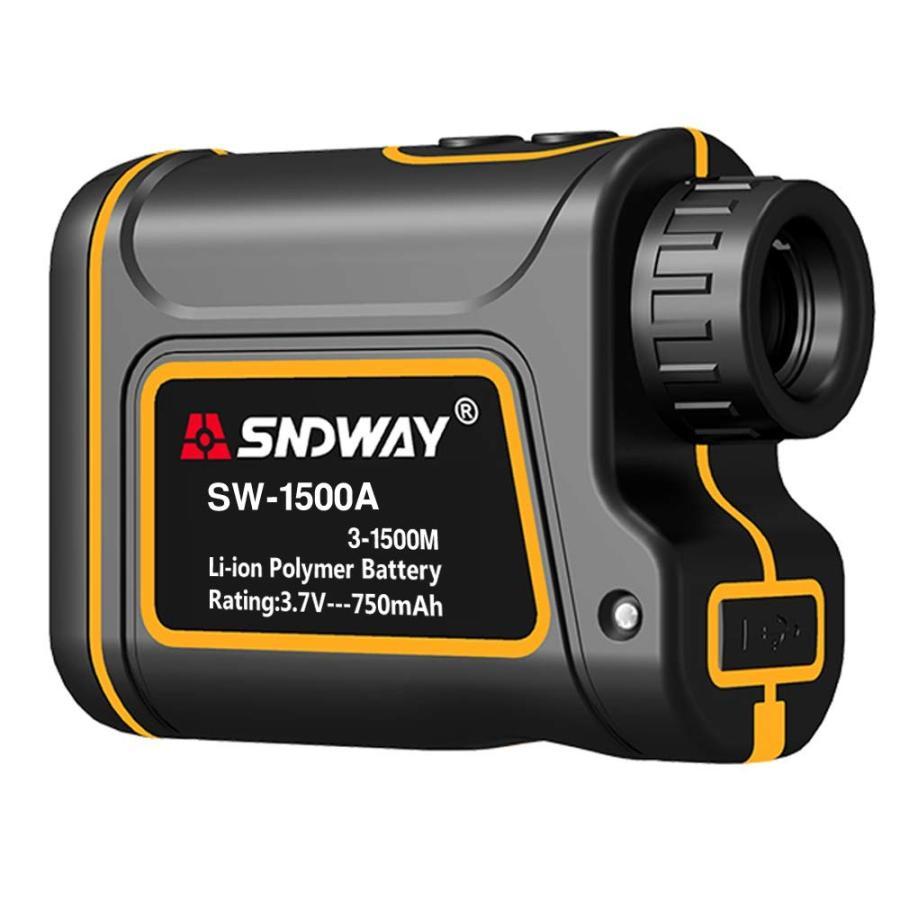 送料無料 レーザー距離計 1500m 高低差測定機能付 速度計モード搭載 防水防塵 光学7倍 USB充電 大容量バッテリー内蔵 携帯型レンジファインダー単眼鏡 ASP-09