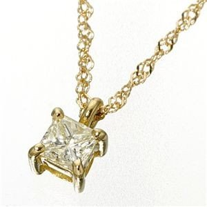 激安大特価! 0.15ctダイヤモンドプリンセスカットペンダント/ネックレス イエローゴールド(ゴールド), リブラ f4f9a573