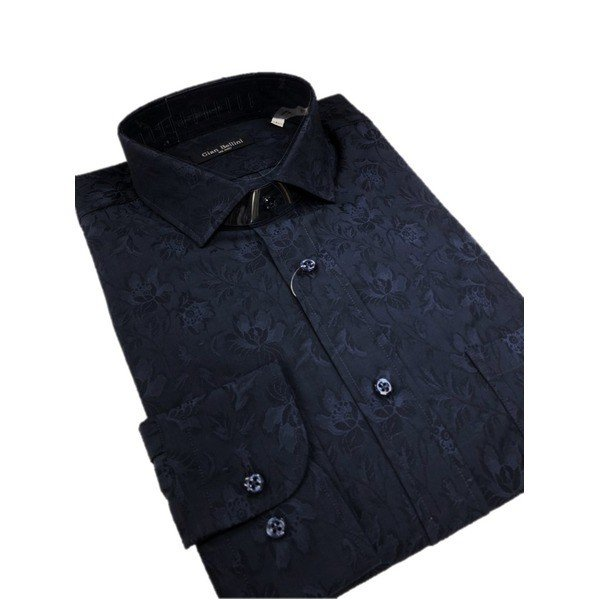 【30%OFF】 イタリア製ファクトリーシャツ from Mサイズ from milano ダークネイビー×フラワー milano Mサイズ, 釣具のキャスティング:681df614 --- chizeng.com