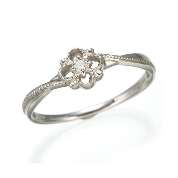 【SEAL限定商品】 K10 ホワイトゴールド ダイヤリング 指輪 スプリングリング 184282 21号, E.S.P. 7536eb60