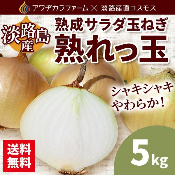 オーバーのアイテム取扱☆ 淡路島 熟成サラダ玉ねぎ 熟れっ玉 5kg 記念日