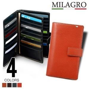 f8fb19e4dc24 Milagro ミラグロ 財布 ca-s-2163 イタリア製ヌメ革 30枚カード収納長 ...