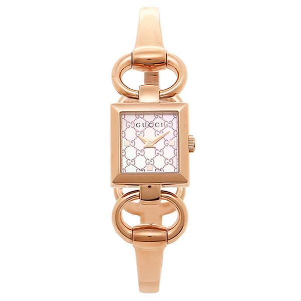 「P10%還元 3/21 20時·24時」グッチ 腕時計 レディース GUCCI YA120520 ゴールドピンク