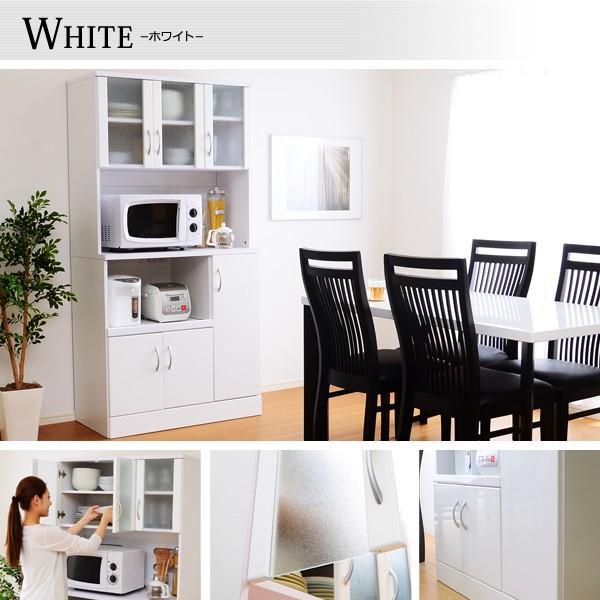 ホワイト鏡面仕上げのワイド食器棚 -NewMilano-ニューミラノ (180cm×90cmサイズ) axisnet 03