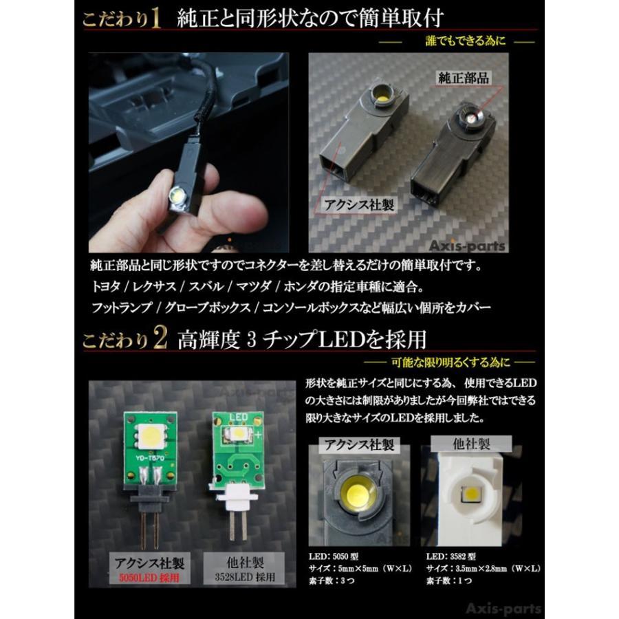スバル XV(型式:GT)ダッシュボード&コンソールランプキット Bセット フットランプキット付き(メール便商品)(SM) axisparts 02