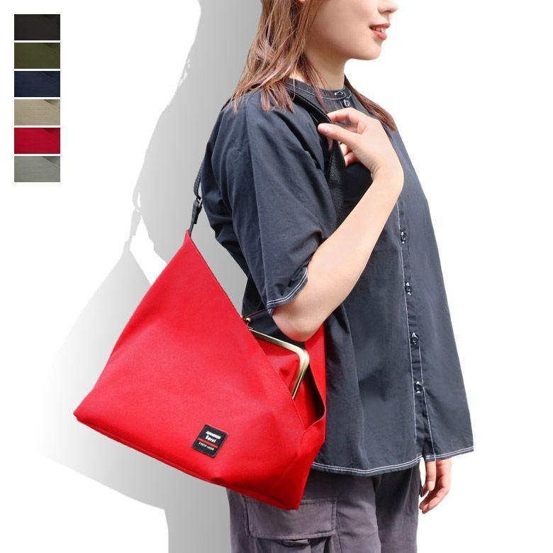 がま口 バッグ  がま口スクエアワンショルダーバッグ Sarei コーデュラ(R)Eco Fabric|ayano-koji