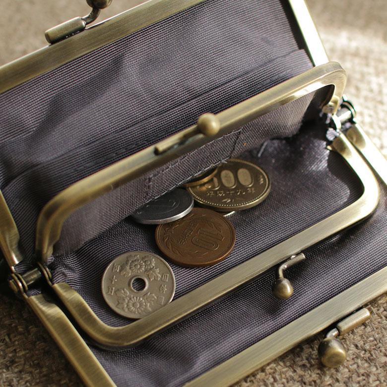 AYANOKOJI 平親子がま口財布 Fine Leather2 財布 革 小型 がま口財布 本革 小型 二つ折り  カード入れ|ayano-koji|04