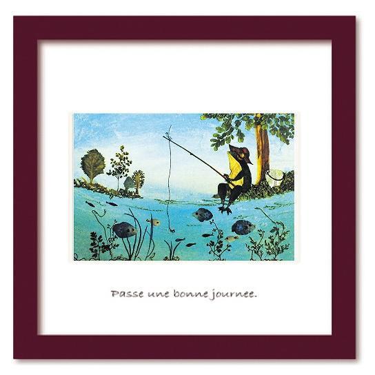 アートフレーム ゆうパケット Atelier Flower Horizon Fishing frog 絵画 壁掛け 壁飾り インテリア 油絵 花 アートパネル ポスター 絵 額入り リビング 玄関 ayuwara