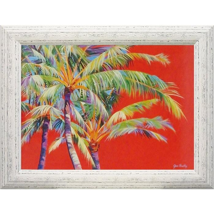 絵画 ジーン ブラッドリー「ファイヤー パーム」 絵画 壁掛け 壁飾り インテリア 油絵 花 アートパネル ポスター 絵 額入り リビング 玄関