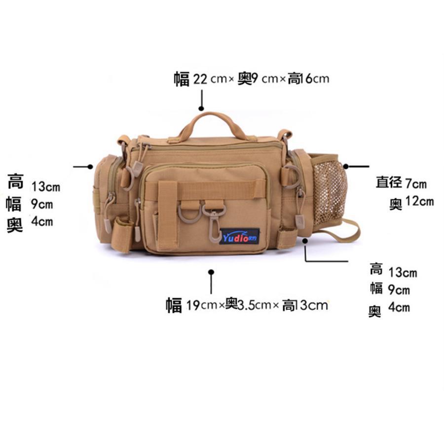 マルチフィッシングバック フィッシングバッグ タックルバッグ ヒップバッグ ショルダーバッグ ルアーケース 釣りバック 大容量 多機能 防水 アウトドア|azaargo|03