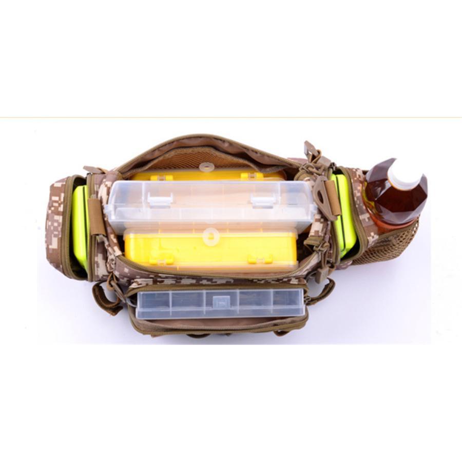 マルチフィッシングバック フィッシングバッグ タックルバッグ ヒップバッグ ショルダーバッグ ルアーケース 釣りバック 大容量 多機能 防水 アウトドア|azaargo|04