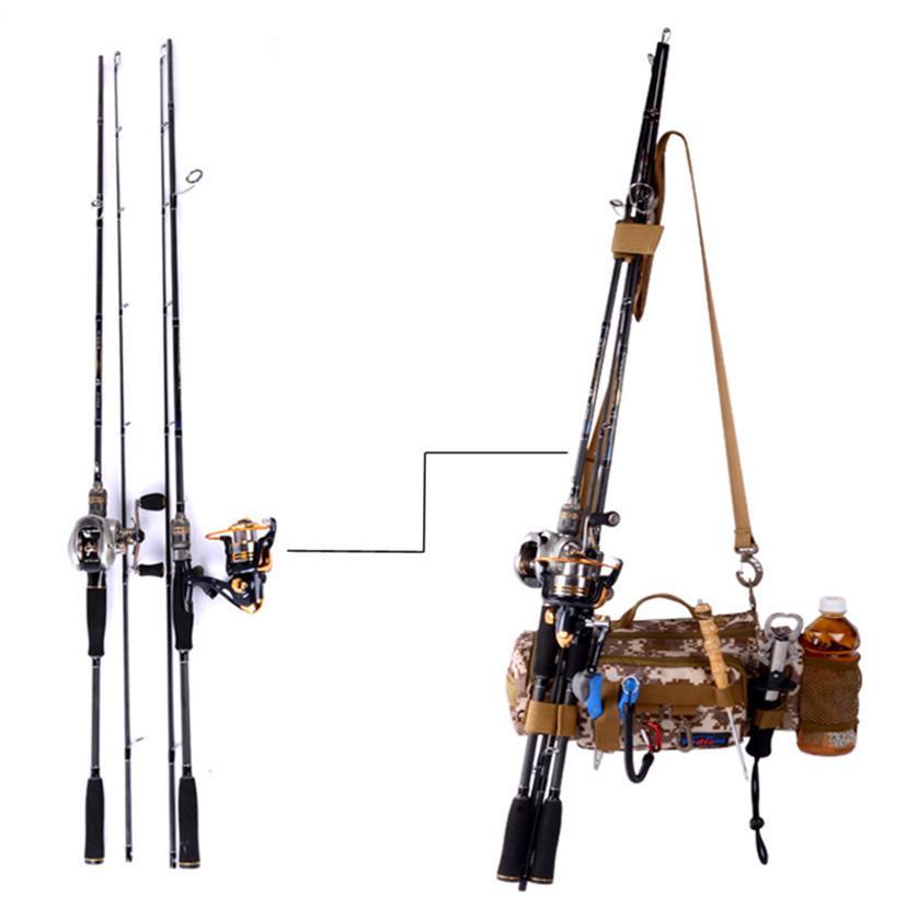 マルチフィッシングバック フィッシングバッグ タックルバッグ ヒップバッグ ショルダーバッグ ルアーケース 釣りバック 大容量 多機能 防水 アウトドア|azaargo|06