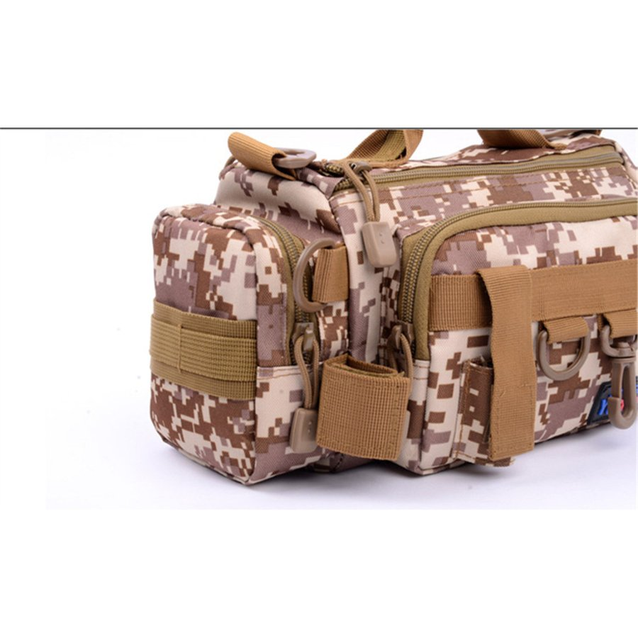 マルチフィッシングバック フィッシングバッグ タックルバッグ ヒップバッグ ショルダーバッグ ルアーケース 釣りバック 大容量 多機能 防水 アウトドア|azaargo|07