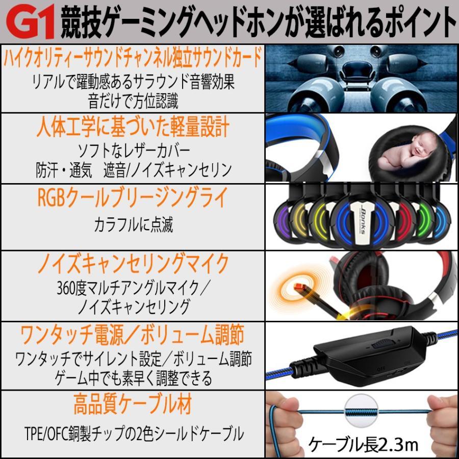 ゲーミングヘッドセット ヘッドホン スイッチ PS4 PC フォートナイト ボイスチャット Switch ゲーミング リモコン マイク付き カラフルLED 2020年版|azbex-tec|18