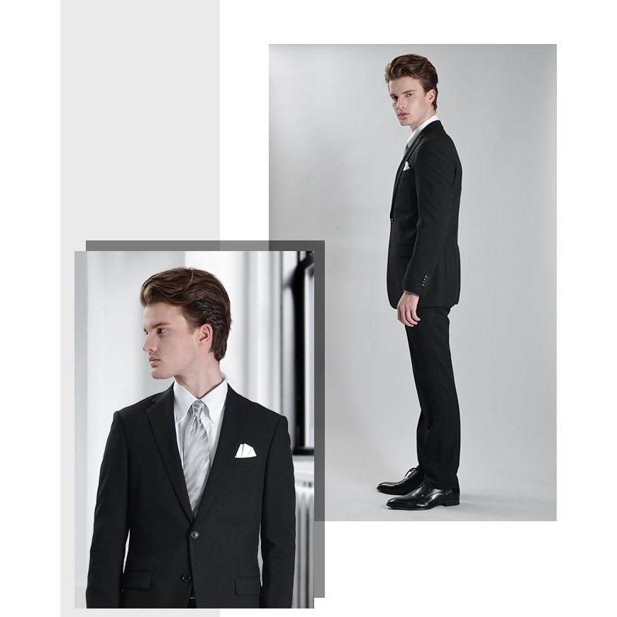 フォーマルスーツ 礼服 メンズ 2つボタン ブラックフォーマル アジャスター付 大きいサイズ スーツハンガー付属|azdeux|03