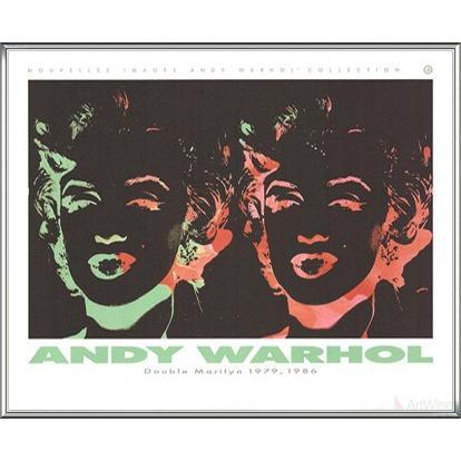 Double Marilyn (Reversal Series) 1989(アンディ ウォーホル) 額装品 アルミ製ハイグレードフレーム