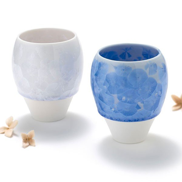 花結晶ペアカップ(青・白) 42-514-98|azp-shop