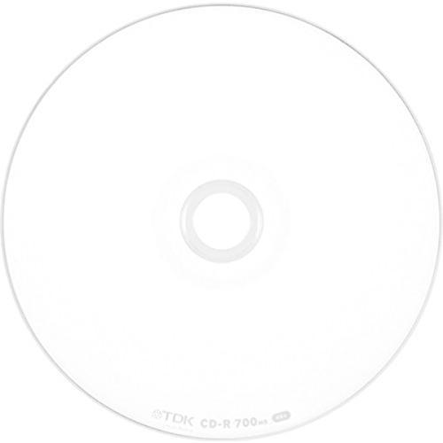 TDK データ用CD-R 700MB 48倍速対応 ホワイトワイドプリンタブル 50枚スピンドル CD-R80PWDX50PE|azsys|02