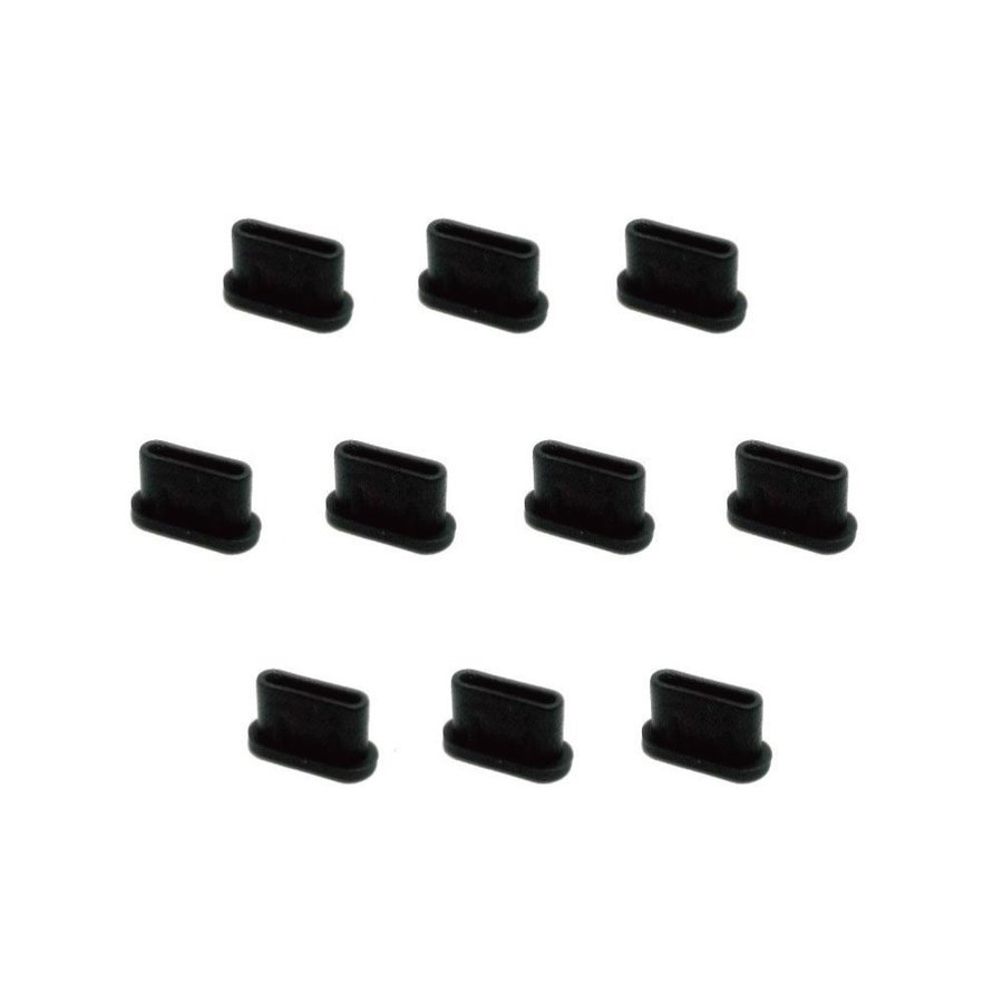 monofive USB3.1 Type-Cポート防塵保護カバー・キャップ(10個入り) シリコンタイプ MF-TYPEC-C10B|azsys