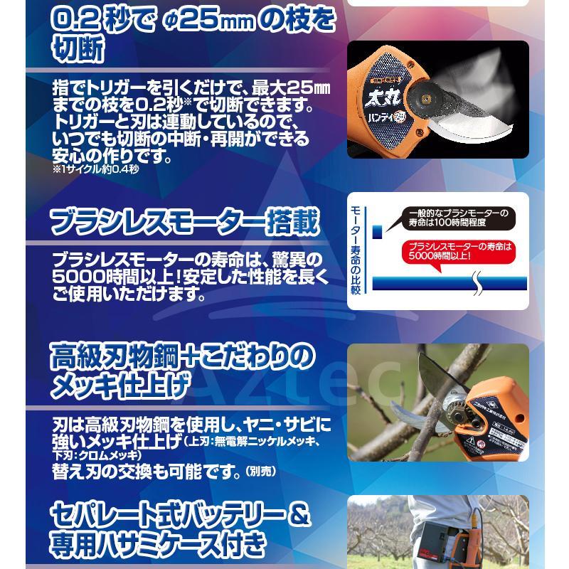 ニシガキ|<替刃+1set品>充電式剪定鋏 N-928 太丸ハンディー25 最大切断径約25mm バッテリー・充電器付|法人限定|aztec-biz|04