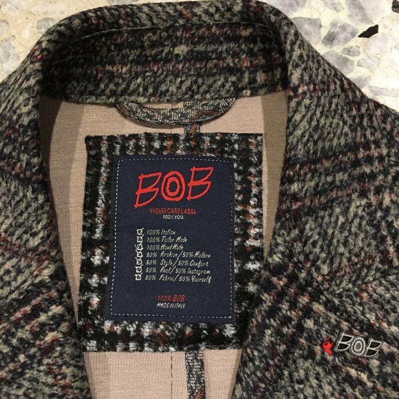 BOB ボブ ツィード ジャケット チェック新作072701128|azurshop|03