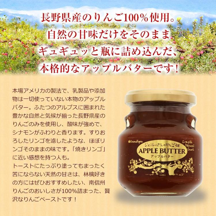 ジェニーさんのりんご畑 AppleButter 長野産りんご100% アップルバター 155g 添加物・乳製品不使用 ミールキット レンチン azusaya 02