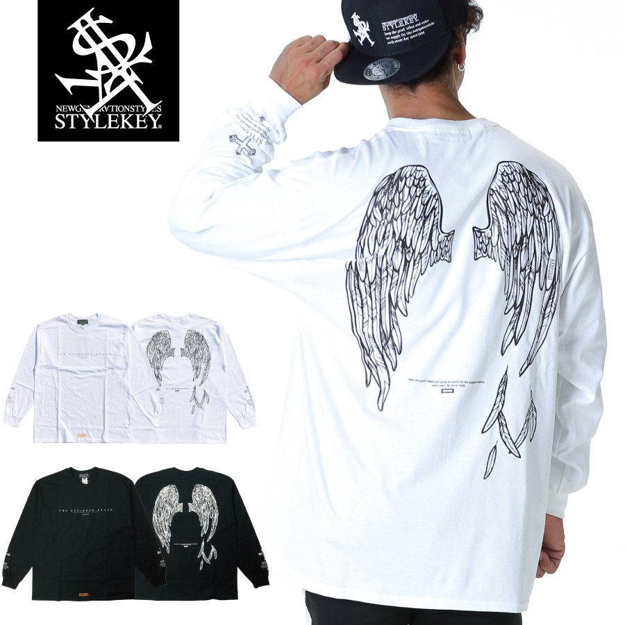 STYLEKEY(スタイルキー) 長袖Tシャツ FALLEN ANGEL L/S TEE(SK19HO-LS06) ロングスリーブTシャツ ストリート系 B系 大きいサイズ|b-bros