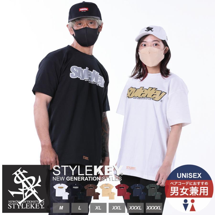 STYLEKEY(スタイルキー) 半袖Tシャツ SMART LOGO S/S TEE(SK21SP-SS02) ストリートファッション ヒップホップ レゲエ ダンス B系 定番ロゴ 大きいサイズ|b-bros