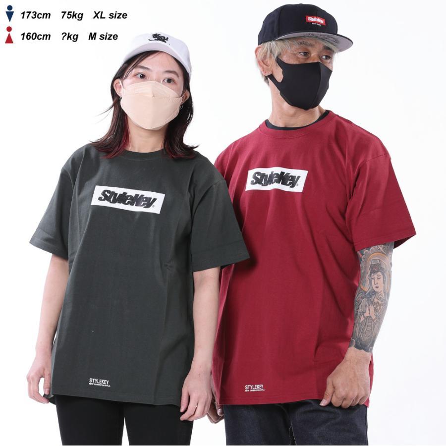 STYLEKEY(スタイルキー) 半袖Tシャツ BOX LOGO S/S TEE(SK21SP-SS03) ストリートファッション ヒップホップ レゲエ ダンス スケート B系 定番ロゴ 大きいサイズ|b-bros|04
