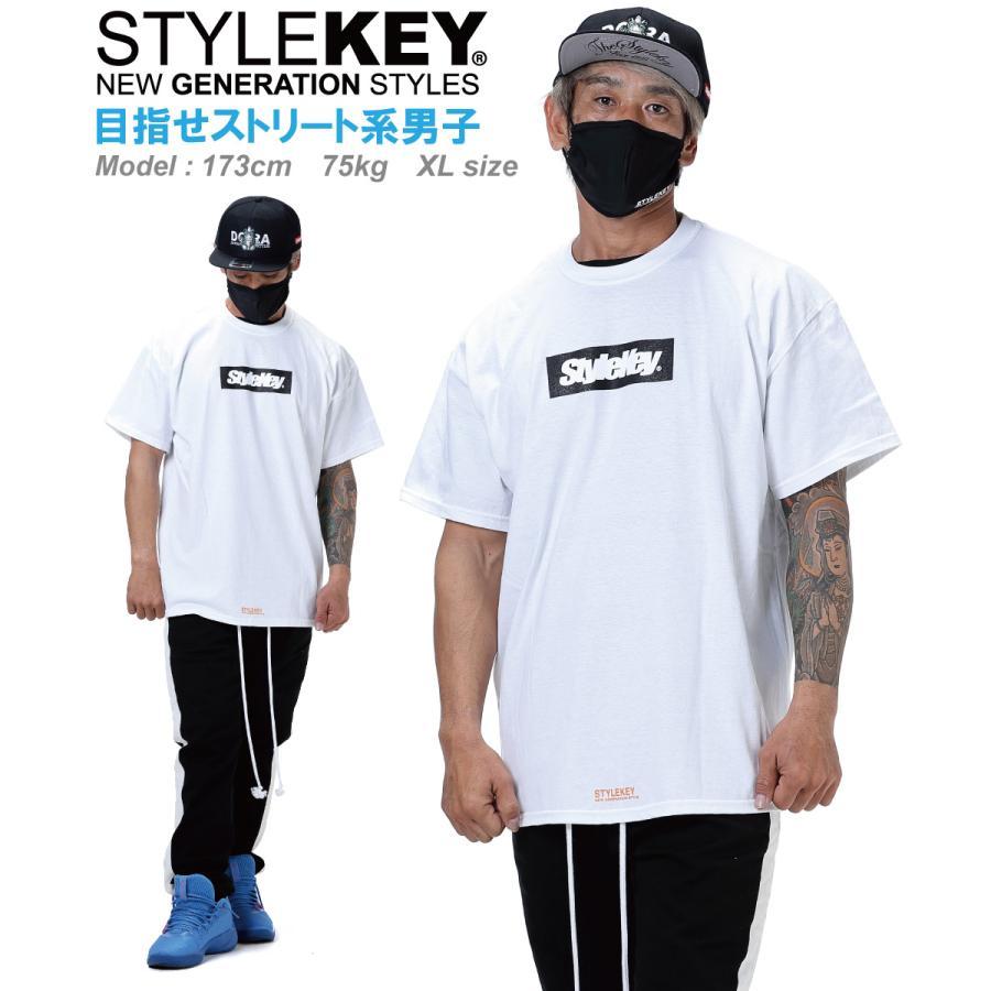 STYLEKEY(スタイルキー) 半袖Tシャツ BOX LOGO S/S TEE(SK21SP-SS03) ストリートファッション ヒップホップ レゲエ ダンス スケート B系 定番ロゴ 大きいサイズ|b-bros|05