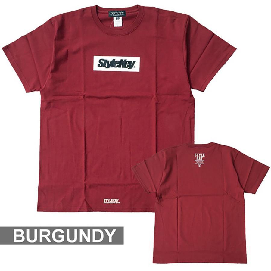STYLEKEY(スタイルキー) 半袖Tシャツ BOX LOGO S/S TEE(SK21SP-SS03) ストリートファッション ヒップホップ レゲエ ダンス スケート B系 定番ロゴ 大きいサイズ|b-bros|10