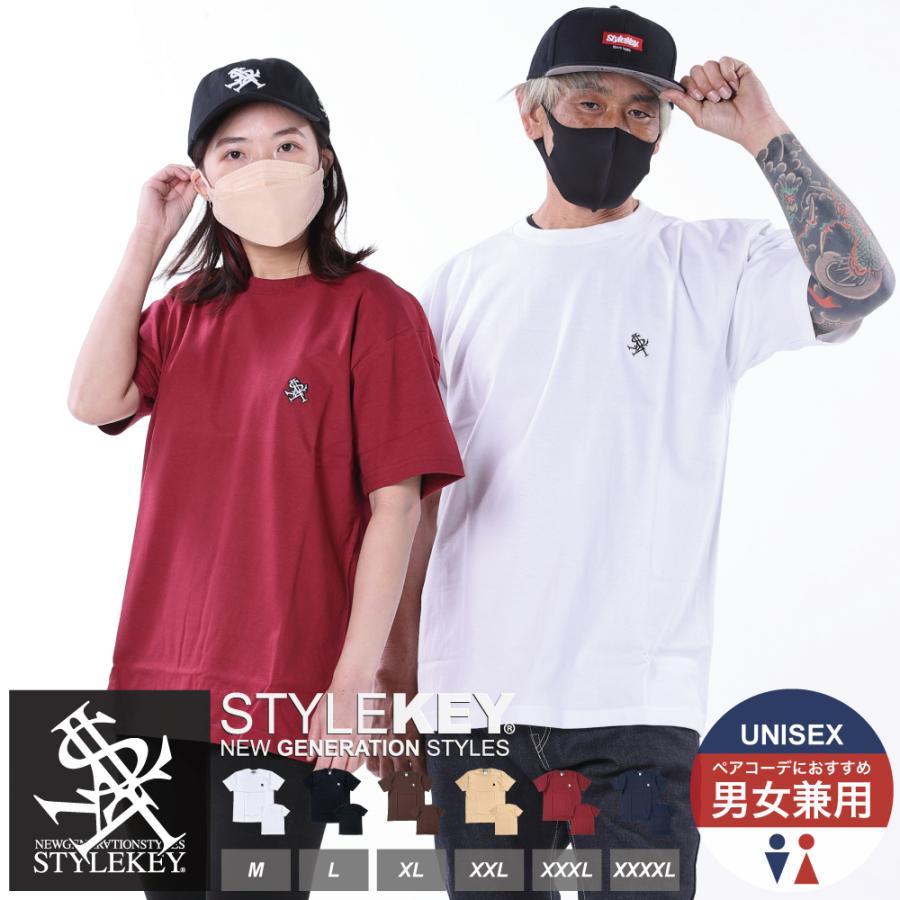 STYLEKEY(スタイルキー) 半袖Tシャツ ROYAL POINT S/S TEE(SK21SU-SS02) ストリートファッション ヒップホップ レゲエ ダンス B系 定番ロゴ 大きいサイズ b-bros