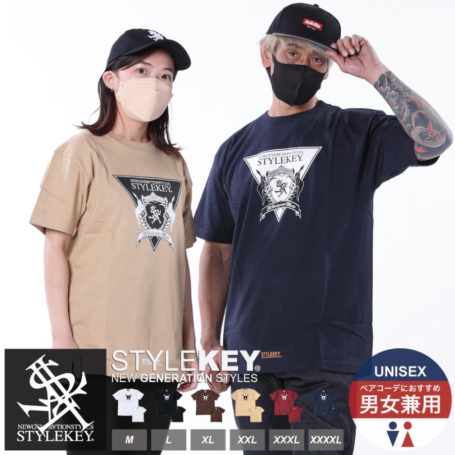 STYLEKEY(スタイルキー) 半袖Tシャツ TRIANGLE LOGO S/S TEE(SK21SU-SS04) ストリートファッション ヒップホップ レゲエ ダンス B系 定番ロゴ 大きいサイズ b-bros