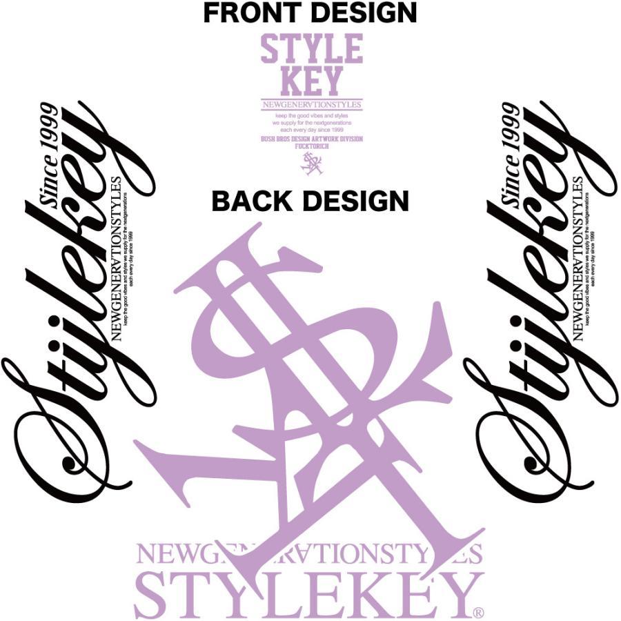 STYLEKEY スタイルキー 長袖ワークシャツ NEON ROYAL L/S WORK SHIRT (SK21FW-BL01) ストリートファッション ヒップホップ B系 ロゴ ブラウス 大きいサイズ b-bros 05