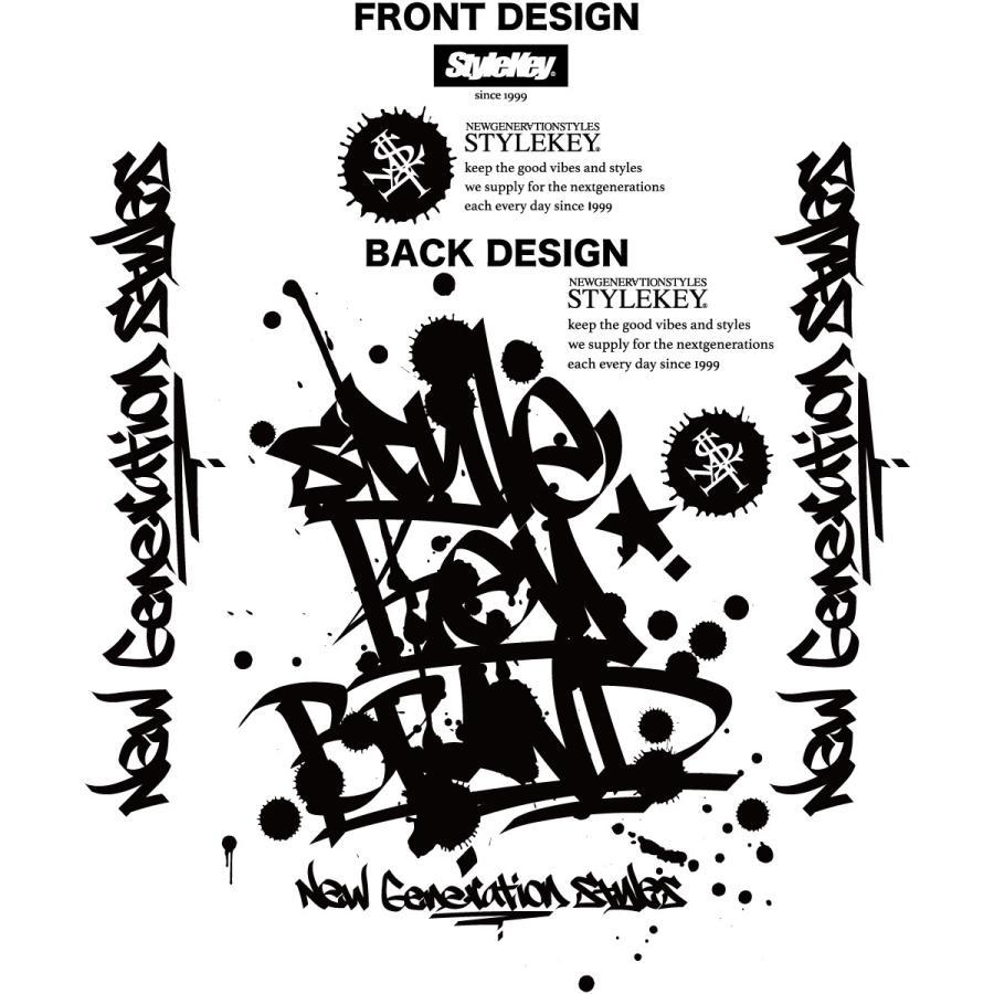 STYLEKEY スタイルキー 長袖ワークシャツ SCRIBBLE L/S WORK SHIRT (SK21FW-BL02) ストリートファッション ヒップホップ B系 タギング ブラウス 大きいサイズ|b-bros|07