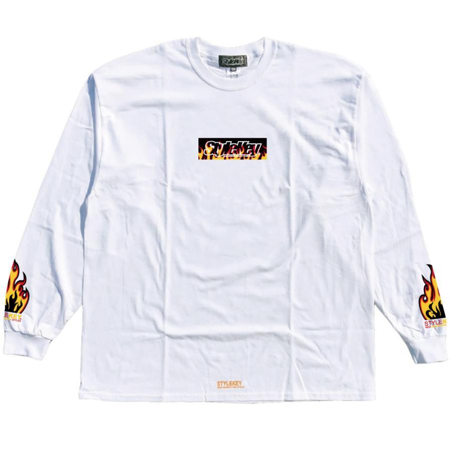STYLEKEY(スタイルキー) 長袖Tシャツ FIRE BOX L/S TEE(SK21FW-LS05) ロングスリーブTシャツ ストリート ヒップホップ レゲエ B系 ボックス ロゴ 大きいサイズ|b-bros|03