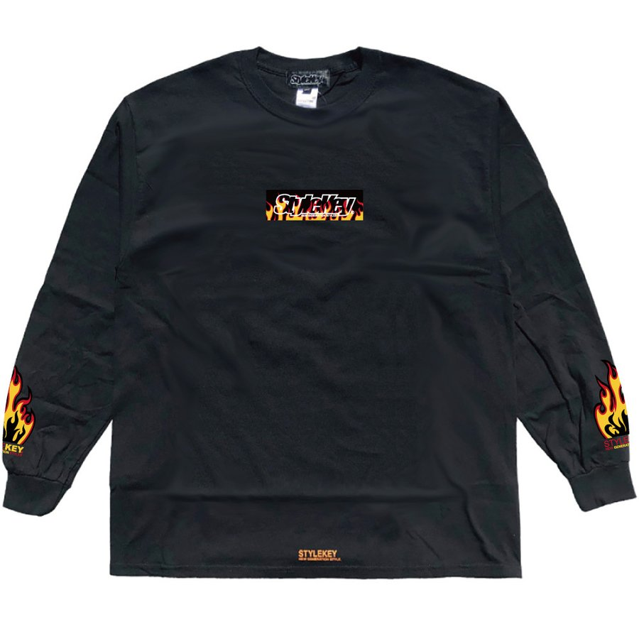 STYLEKEY(スタイルキー) 長袖Tシャツ FIRE BOX L/S TEE(SK21FW-LS05) ロングスリーブTシャツ ストリート ヒップホップ レゲエ B系 ボックス ロゴ 大きいサイズ|b-bros|05