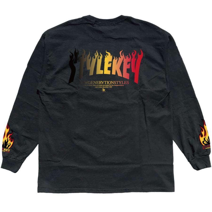 STYLEKEY(スタイルキー) 長袖Tシャツ FIRE BOX L/S TEE(SK21FW-LS05) ロングスリーブTシャツ ストリート ヒップホップ レゲエ B系 ボックス ロゴ 大きいサイズ|b-bros|06