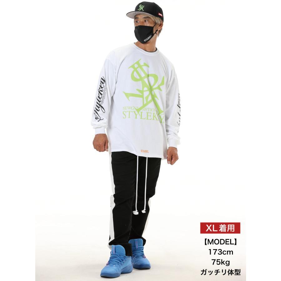 STYLEKEY(スタイルキー) 長袖Tシャツ NEON ROYAL L/S TEE(SK21FW-LS07) ロングスリーブTシャツ ストリート ヒップホップ レゲエ B系 ロイヤル ロゴ 大きいサイズ|b-bros|02