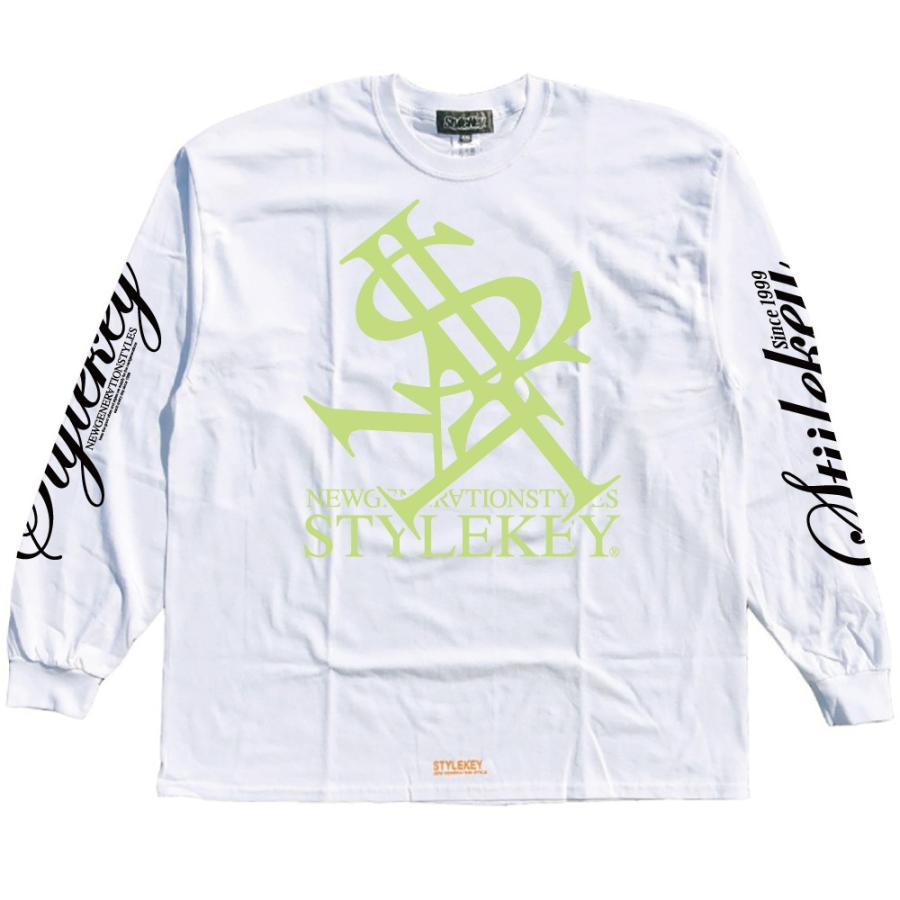 STYLEKEY(スタイルキー) 長袖Tシャツ NEON ROYAL L/S TEE(SK21FW-LS07) ロングスリーブTシャツ ストリート ヒップホップ レゲエ B系 ロイヤル ロゴ 大きいサイズ|b-bros|03