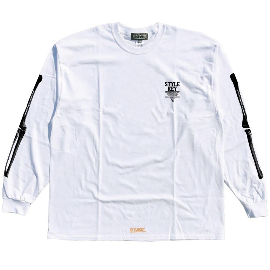 STYLEKEY(スタイルキー) 長袖Tシャツ SKELETON L/S TEE(SK21FW-LS08) ロングスリーブTシャツ ストリート ヒップホップ レゲエ B系 骨 ボーン ロゴ 大きいサイズ b-bros 03