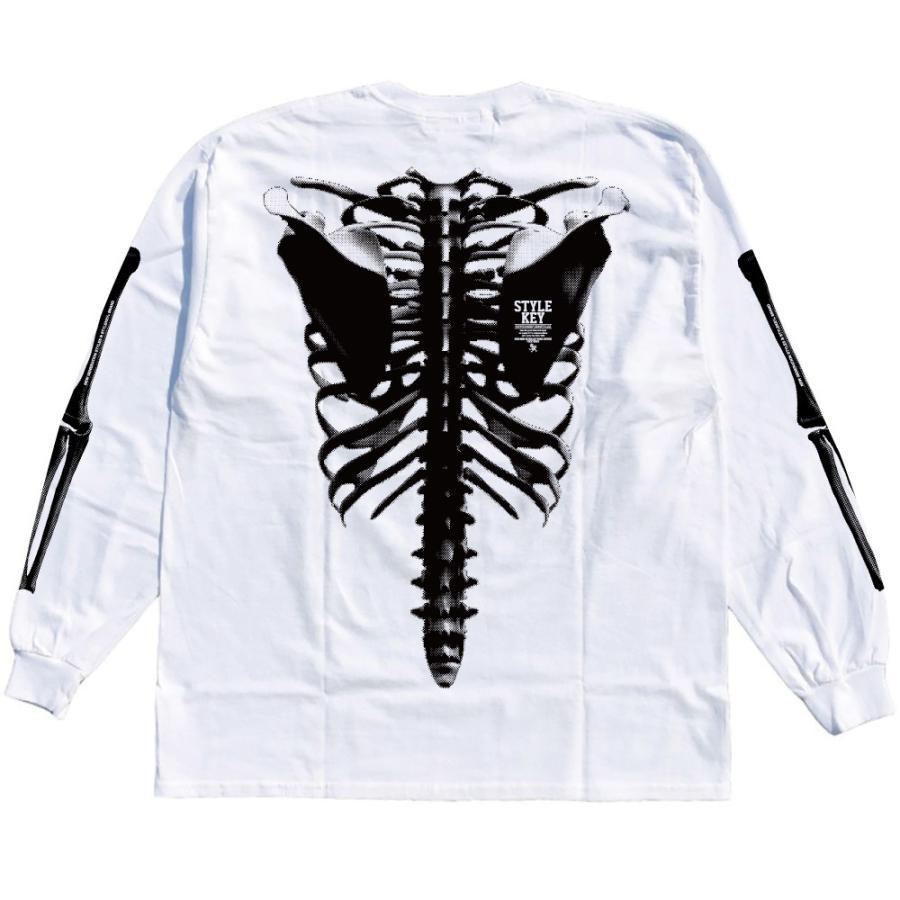 STYLEKEY(スタイルキー) 長袖Tシャツ SKELETON L/S TEE(SK21FW-LS08) ロングスリーブTシャツ ストリート ヒップホップ レゲエ B系 骨 ボーン ロゴ 大きいサイズ b-bros 04